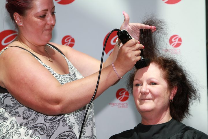 Alison Goodreid, charity head shave June 2016