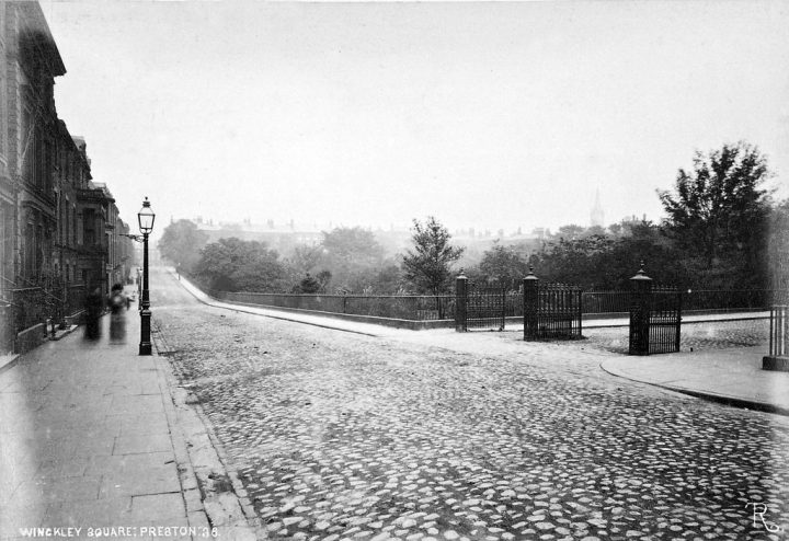 The western boundary of the Square looking North in 1882 Pic: Preston Digital Archive
