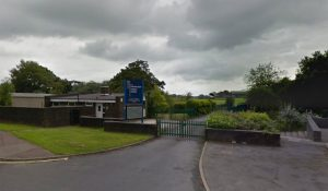 The secondary school in St Vincent's Road has been affected by floodwater
