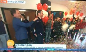 Ben gets his surprise live on national TV