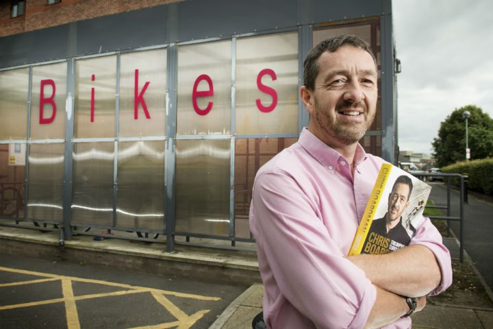 Chris Boardman on his visit to UCLan