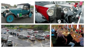 Vintage cars line up outside the Infantry Museum