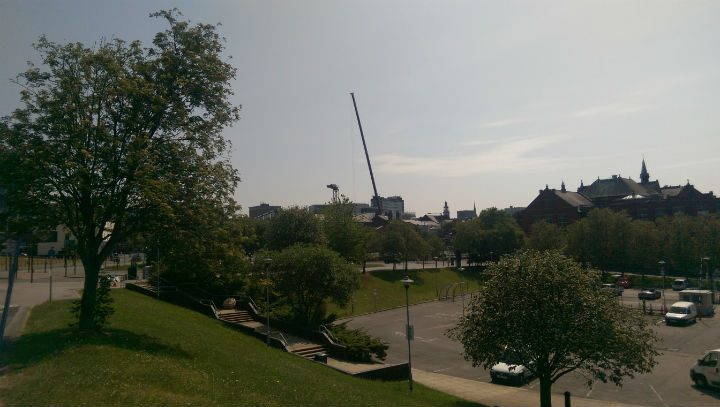 View of the crane from Maudland Bank