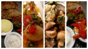 A selection of Dukpond's dishes