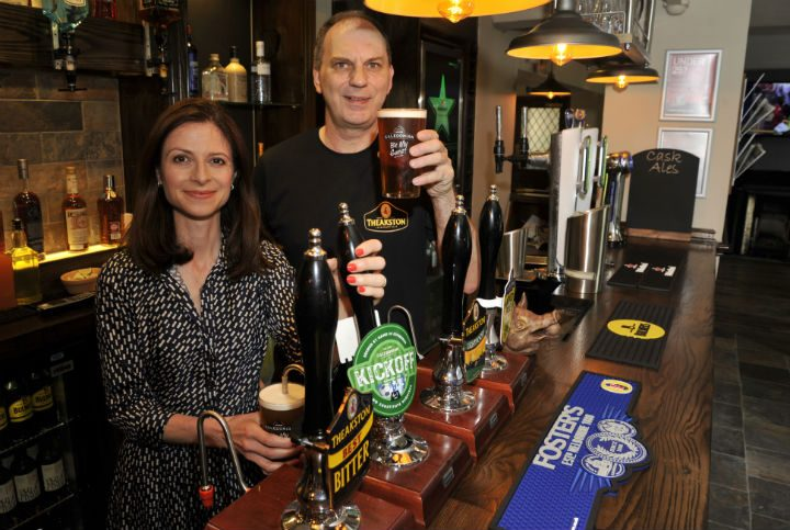 Seema Kennedy MP and Tim Hughes in the Pear Tree Pic: Donna Clifford