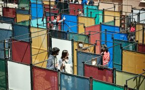 An outdoor maze is part of the events on the Flag Market this summer