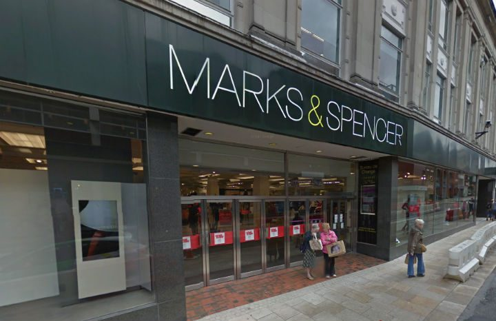 The incident happened near the Marks and Spencer in Preston Pic: Google