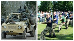 Military vehicles will be on show, and soldiers are to take part in a tug of war