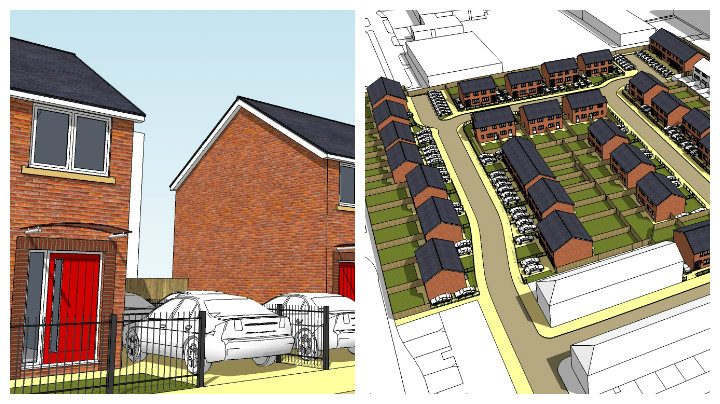 Artist impression of how the Mulbury Homes development is to look