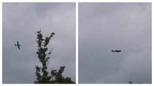 The Spitfire banking and cruising above Fulwood