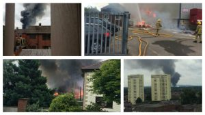 Whitfire Shavings mill fire, as seen from many different angles