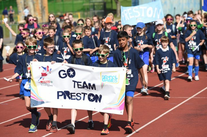 Team Preston in the opening ceremony of the 2015 county finals