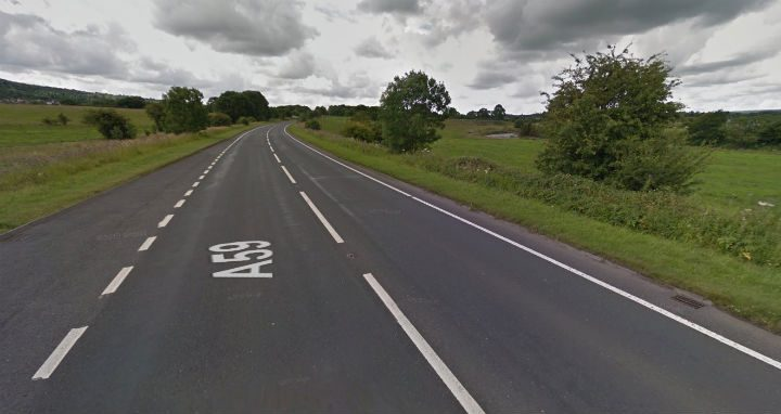 The incident happened on the A59 near Whalley Pic: Google