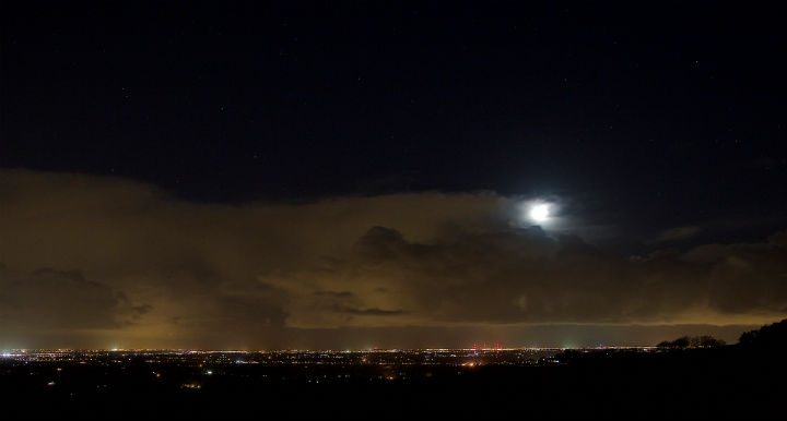 Night time view of Lancashire from Beacon Fell Pic: Phil Wrigley