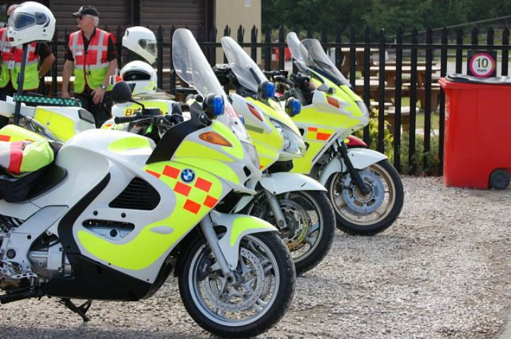 A number of blood bikes in livery will line the route