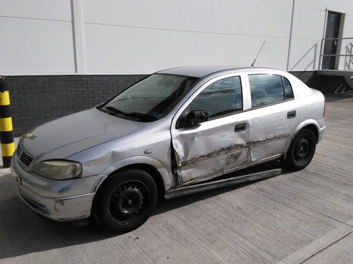 The damaged Astra