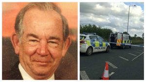 Ernie Robinson was a successful local businessman, police taped off the road for a number of hours near Preston