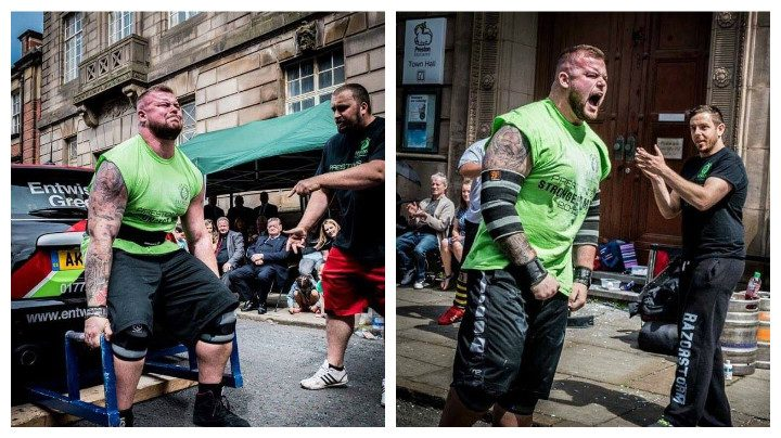 Gary competing in last year's event