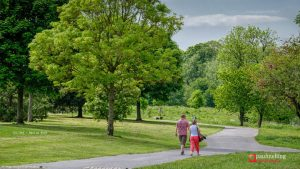 A couple take a stroll in Haslam Park Pic: Paul Melling