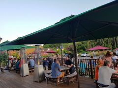 Beer garden at The Hunters is proving popular