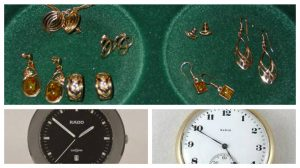 Jewellery and watches were taken in the raid