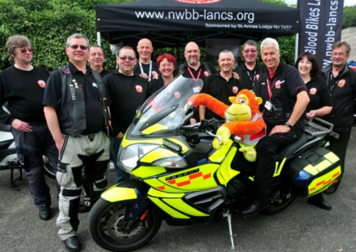 Marcel, who is sitting on the bike, is to be remembered by his colleagues