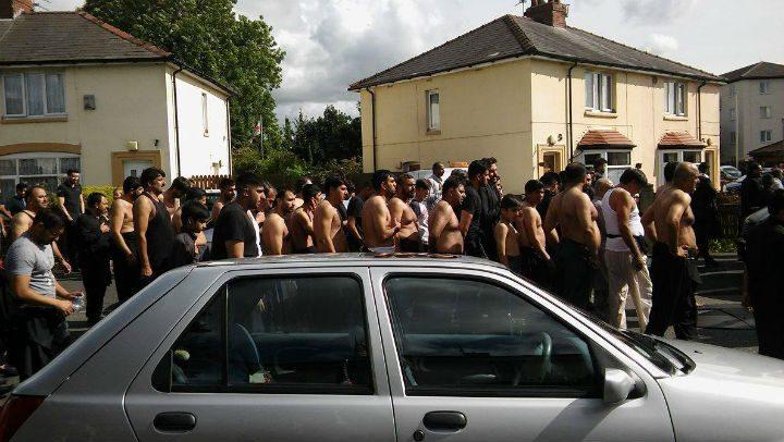 The procession making its way through Fishwick