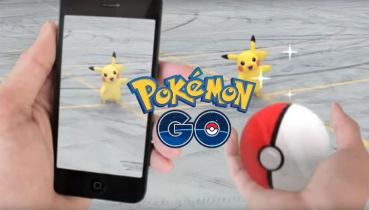 Players use their mobile phones to locate Pokemon