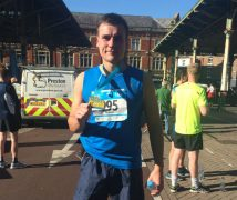 Robert with his medal after completing Run Preston. He was a keen distance runner.