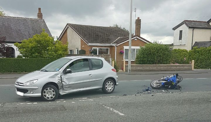The vehicles involved in the Tag Lane collision Pic: Paul Iddon