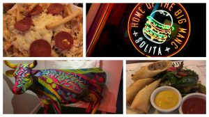Inside Solita, pizza fries, the neons, the colourful cow and a starter
