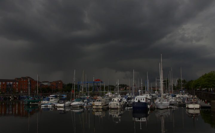 Storm clouds expected over the Docks Pic: Ian Lambert