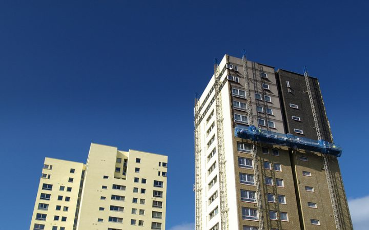 The woman fell from the flats in Avenham Pic: Tony Worrall