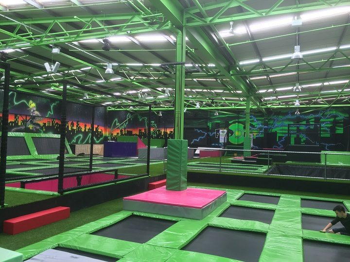 Another view inside the Flip Out trampoline centre