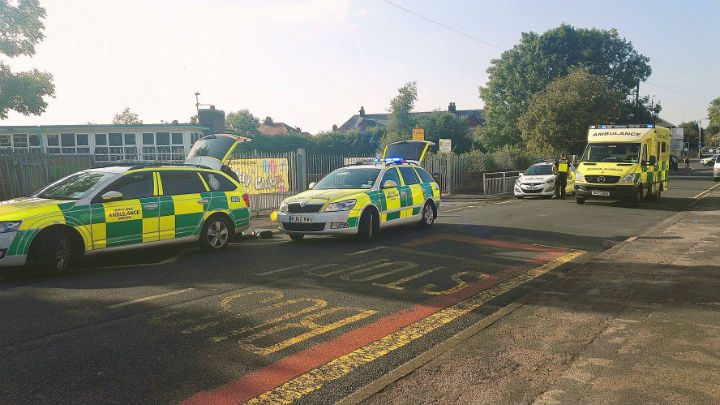 Greaves Town Lane has been closed to traffic Pic: Benny McNally