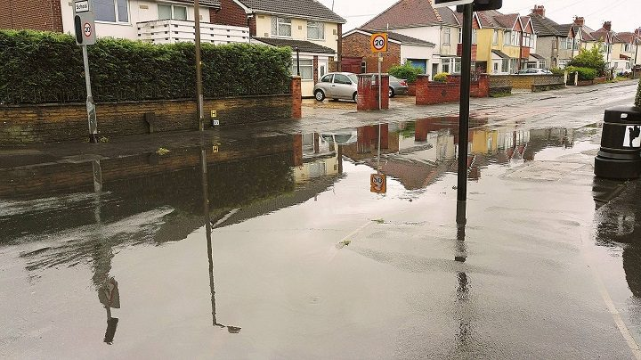 Greaves Town Lane once again saw surface water flooding Pic: Benny Mc'Nally