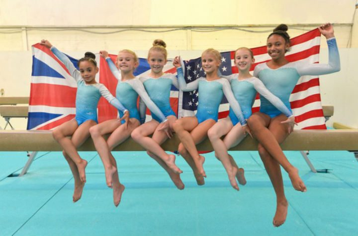 Jayla, Grace, Gemma, Aimee, Amy and Jaz are the six flying to the States Pic: Tony Cain