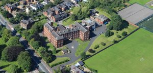 An aerial view of the Little Sisters of the Poor care home