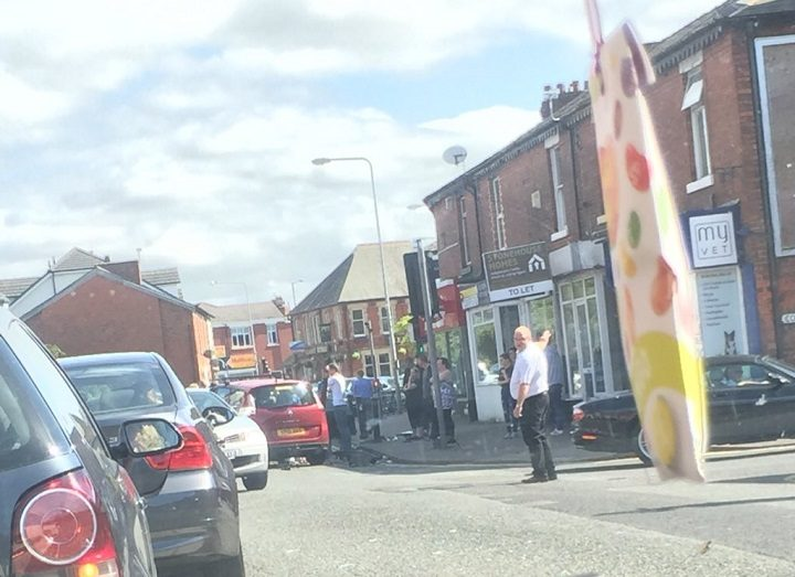 Leyland Road closed as traffic is stopped Pic: Georgina Jacques