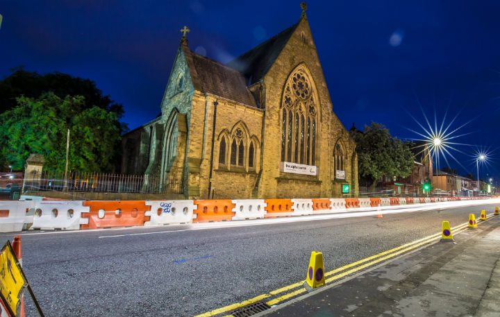 Roadworks are taking place in New Hall Lane Pic: Sonia Bashir