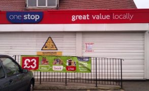 The closed One Stop in Ribbleton