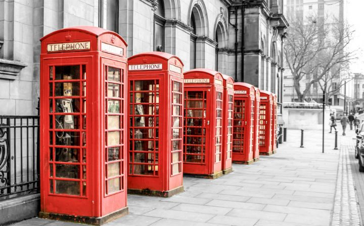 The city's phone boxes Pic: Sonia Bashir