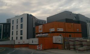 The scaffolding has come down as the development prepares to welcome its first students