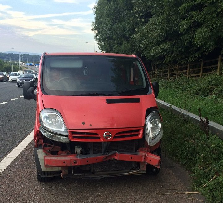 Police are looking for the driver of this van Pic: Lancs Road Police