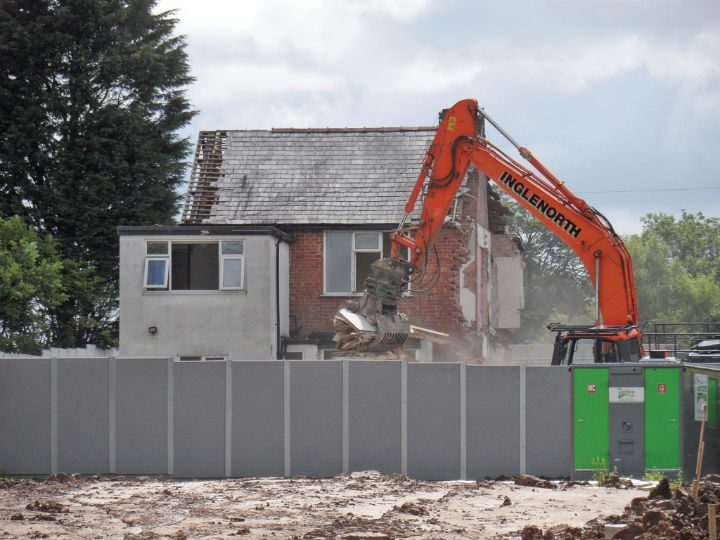 Two homes in Whittingham Lane demolished