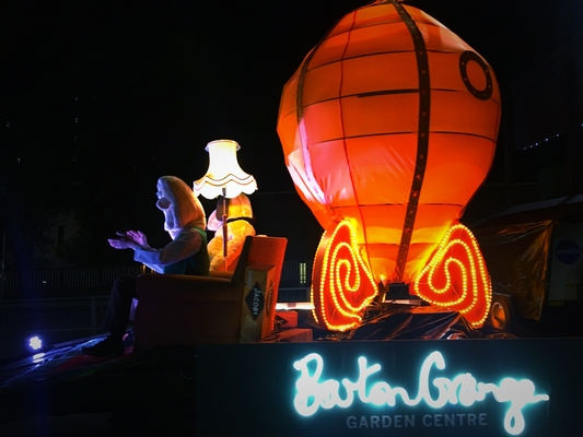 A lantern making its way through Preston