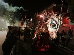 The procession of light was part of the Encounter Pic: Benjamin Wareing