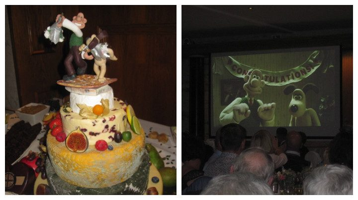 The cheese cake! And Wallace and Gromit on the big screen Pic: Brenda Dell
