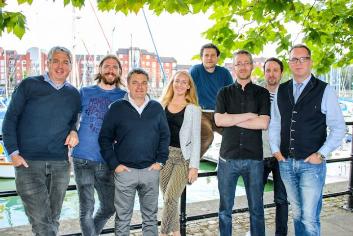 The founders of Digital Lancashire pictured at Preston Docks