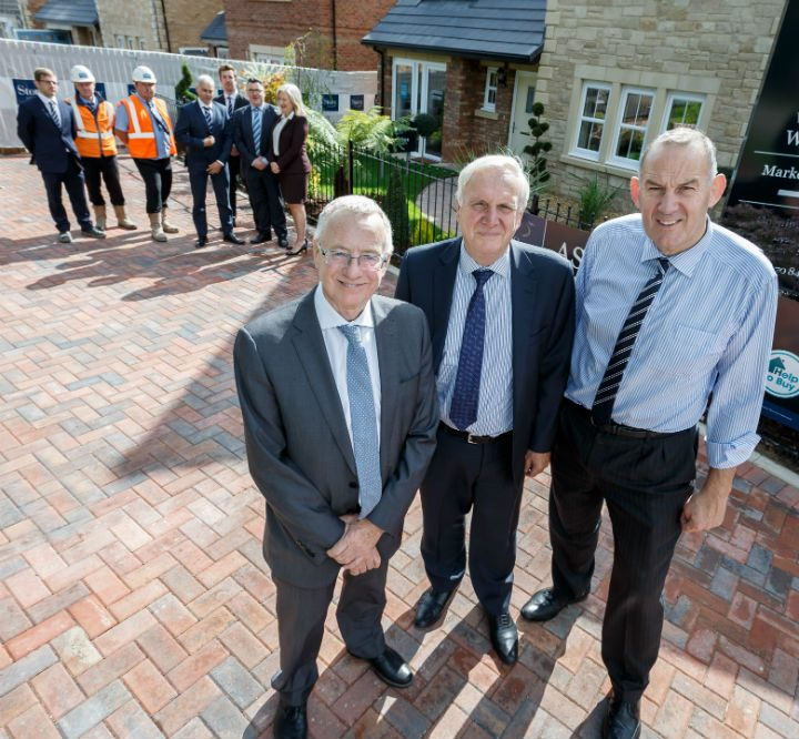 Council leader Peter Rankin, Sir Edward Lister and Fred Story